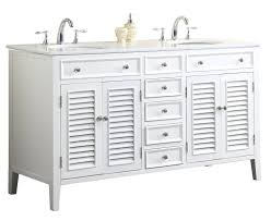 Cottage Style Vanity Adelina 60 Inch Antique White Double Sink Bathroom Vanity Marble