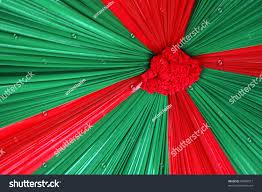 beautiful decoration red green color combination stock photo