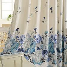 Blue Floral Curtains Cotton Blue Floral Curtains Bedroom Curtains