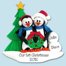 snowman family of 3 handmade polymer clay personalized