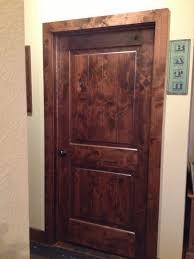Knotty Alder Interior Door by Stained Knotty Alder Doors U0026 Trim So Rustic My Country Life