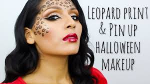 leopard halloween makeup ideas tutorial leopard print u0026 pin up halloween makeup