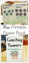 printable book about counting flowers early math early literacy