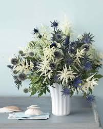 Blue Flower Vases White Flower Arrangements Martha Stewart