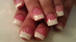 22 french tip nail designs with glitter 50 latest french tip nail