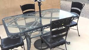 Patio Furniture Refinishers Veda August 17 2014 Painting Metal Patio Furniture Youtube