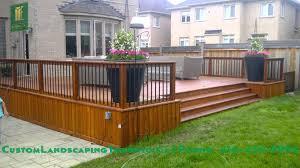 backyard patio deck and interlocking youtube