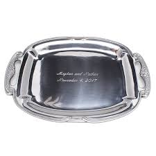 engraved platters engraving on silver steel glass and wood personalized silver