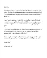 personal recommendation letter sample sample personal letter of