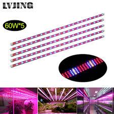is full spectrum lighting safe 5pcs lot led grow light tube full spectrum 60w 1 2m ac85 265v wide
