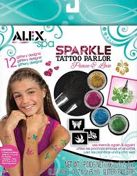 amazon com alex spa fun sparkle tattoo parlor peace and love