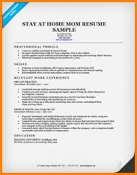 Stay At Home Mom Skills For Resume 100 Example Of Stay At Home Mom Resume Unforgettable Personal