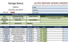 Repair Order Template Excel Work Order Template
