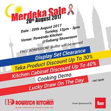 rowenda kitchen yes our u0027merdeka sales u0027 is here for our u0027merdeka
