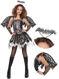 age 12 16 teen fallen angel costume wings tights girls