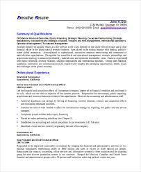 Executive Resume Template Word Resumes In Word Template Examples