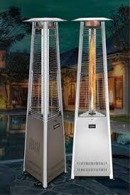 Outdoor Propane Patio Heater Fire Sense Coronado Pyramid Flame Propane Patio Heater Brushed