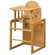 combination natural wooden highchair