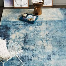 Round Wool Rugs Uk by Distressed Rococo Wool Rug Blue Lagoon West Elm Uk