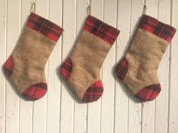54 natural burlap christmas tree skirt with plaid ruffle rustic