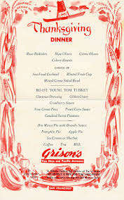 historic sf restaurant menus show what were on