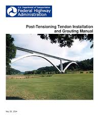 post tension prestressed concrete beam structure
