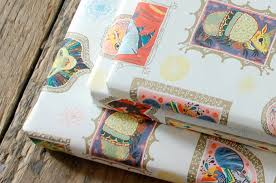 anime wrapping paper nobrow press meg hunt wrap 5 sheets