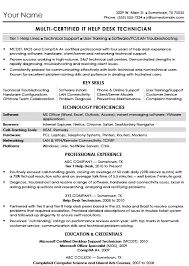 Desktop Support Sample Resume by Sample Resume For An It Help Desk Khmerboss Com Mega Job Bank