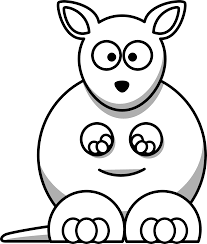 free printable kangaroo coloring page for kids coloring pages