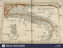 Corsica Map Map Of Italy U0026 Corsica From U0027cosmographia U0027 By Claudius Ptolemy