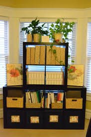 furniture black ikea expedit bookcase with flowers before window
