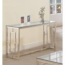 Metal Sofa Table Coaster Company Glass Satin Metal Sofa Table Free Shipping Today