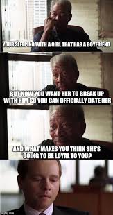 Good Boyfriend Meme - morgan freeman good luck meme imgflip
