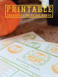 3 thanksgiving drink menus free printables drink a wine