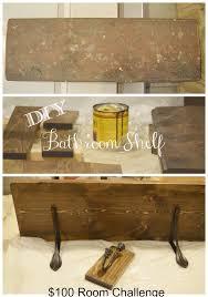 diy bathroom shelf u0026 towel hooks 100 room challenge timeless