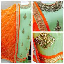 mridanee couture sw01 green kundan work salwar suit color