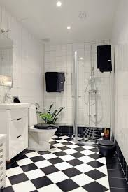 and white bathroom ideas a graphic and gracious guest bath redo checkerboard floor open