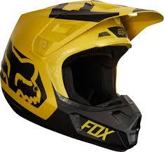 yellow motocross helmets 2018 fox racing v2 preme helmet motocross dirtbike offroad mens
