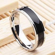 titanium wedding rings uk stunning trendy black band titanium stainless steel ring for men