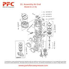 06 11 assembly air end for 8 x 5 nl ir 8 x 5 nl parts