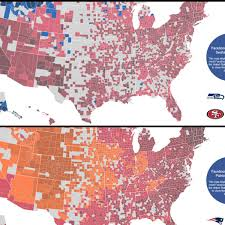 Iupui Map Facebook Fandom Maps For Nfl Conference Championship Games