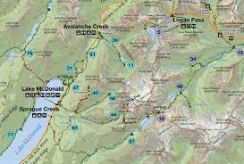 map of zion national park gps tracks for glacier national park