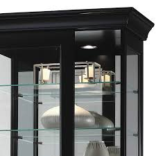 Curio Cabinet Lighting Curio Cabinets Contemporary Curio Cabinets Six Glass Shelf