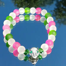 pink beads bracelet images Jewelry pink green and white beaded bracelet poshmark jpg