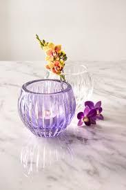 Star Vase Lavender Crystal Tealight Votive Vase