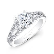 semi mount engagement rings 18k white gold split shank pave semi mount