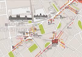Chelsea Map Kensington High Street Shopping Map