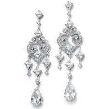 Chandelier Earings Cubic Zirconia Chandelier Earrings With Pear Dangles The Ring Madam