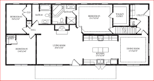 Ranch House Floor Plans With Basement Open Range 375bhs Floor Plan U2013 Home Interior Plans Ideas