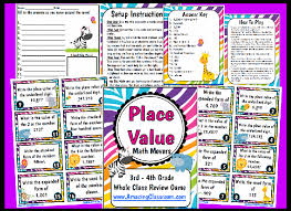 place value math movers game printable worksheet with answer key